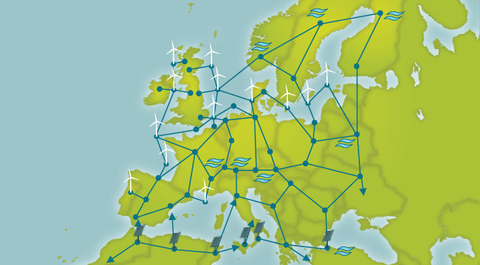 A conceptualisation of what the Supergrid may look like by Friends of the Supergrid