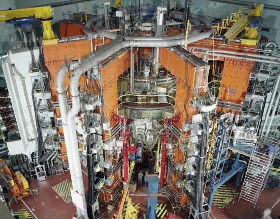 JET; the European fusion reactor hosted by Culham Centre for Fusion Energy in the UK