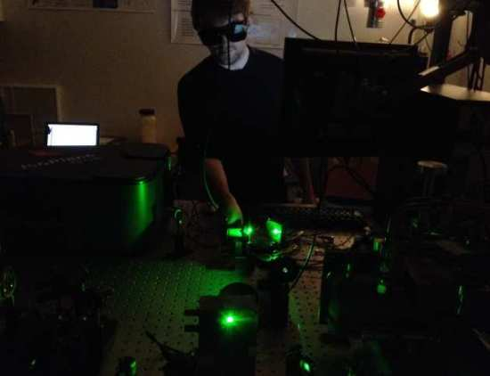 Spectroscopy of solar cell materials in the laser lab