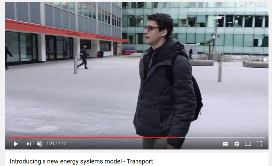 PhD researcher Arnaud Koehl introduces his work on how transport will fit into the model.