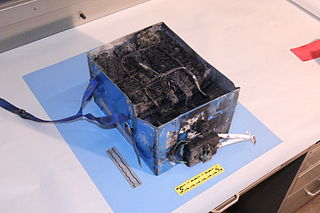 burned auxiliary power unit battery from a JAL Boeing 787 that caught fire on Jan. 7 at Boston's Logan International Airport.