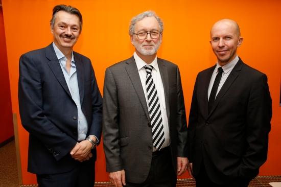 From left to right: Professor Nigel Brandon, Professor Jonathan Stern and Dr Adam Hawkes
