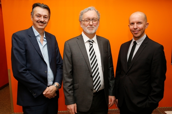 From left to right: Professor Nigel Brandon, Professor Jonathan Stern and Dr Adam Hawkes