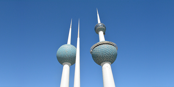 The iconic Kuwait Towers found in Kuwait City