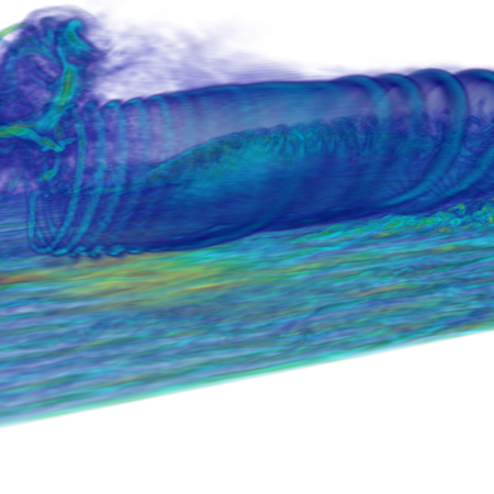 Figure 2 High-fidelity wake data generated using the state-of-the-art wind farm simulator WInc3D/Incompact3D (Unpublished data Deskos et. al.).