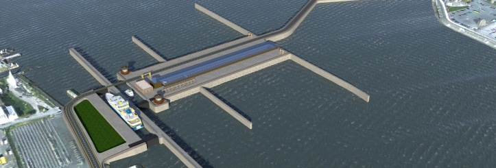Artist's impression of the Wyre Tidal Gateway