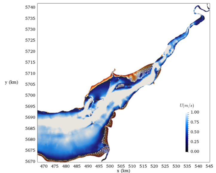 Simulation of a tidal lagoon in the Severn Estuary, UK using Thetis https://thetisproject.org/