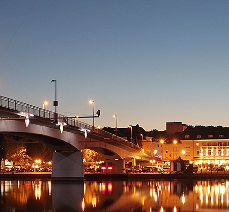 Remich, Luxembourg at night