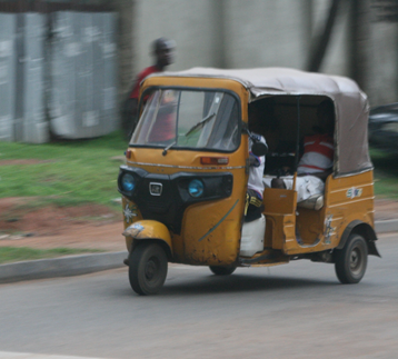 Auto-rickshaw in Abuja photo by ProfessorTim Green