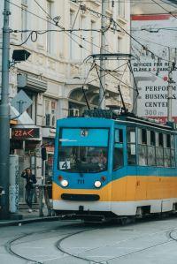 Tram in Bulgaria